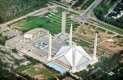 HELICOPTER VIEW OF FAISAL MASJID   ItsPak